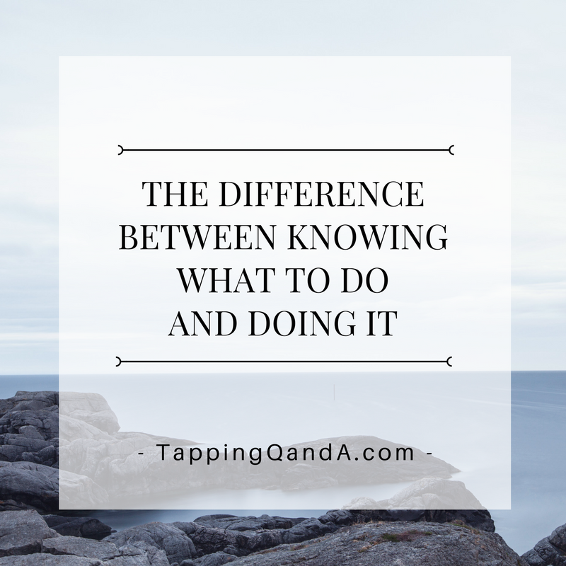 Pod: #276: The Difference Between Knowing What To Do And Doing It